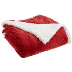 Plush Sherpa throws like this are great gifts for elderly parents - and perfect to taking to the hospital