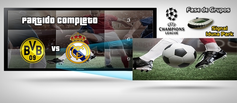Partido | Borussia Dortmund vs Real Madrid | Jornada 2 | Fase de Grupos | UCL
