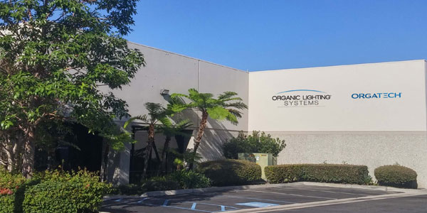 Orgatech Lighting, Organic Lighting Systems, Expands in Move to New Orange, CA