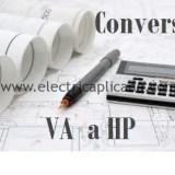 formula convertir de VA a HP