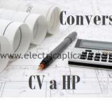 Convertir de Cv a HP