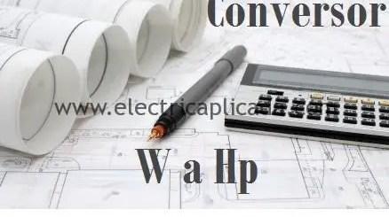 Convertir de w a hp
