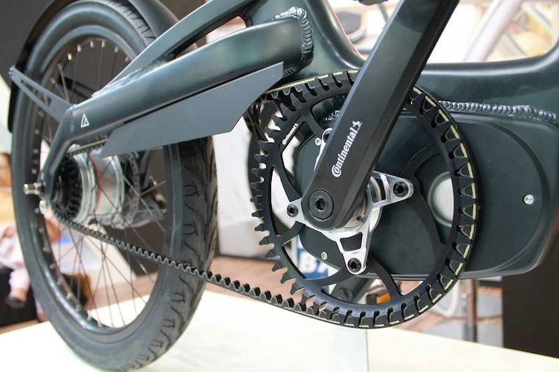 Carbon fiber belt drive mountain bike