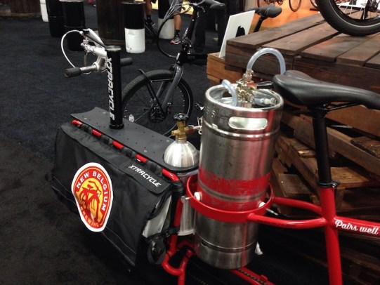 xtracycle edgerunner cargo bike beer keg