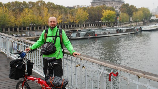 London to Paris with a Folding Electric Bike