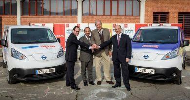 Ahorro de hasta 8.000 euros anuales en flotas profesionales con vehículo eléctrico. Nissan, Calidad Pascual y SEUR impulsan el reparto eléctrico de mercancías junto al Ayto de Madrid