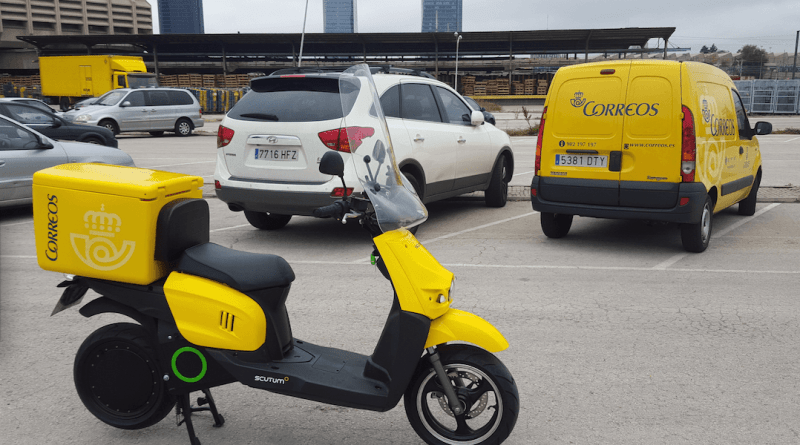 CORREOS compra 100 scooters eléctricos Scutum
