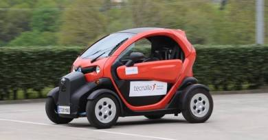 Tecnalia presenta su coche eléctrico autónomo en TRANSFIERE. Renault Twizy autónomo. coche eléctrico sin conductor español