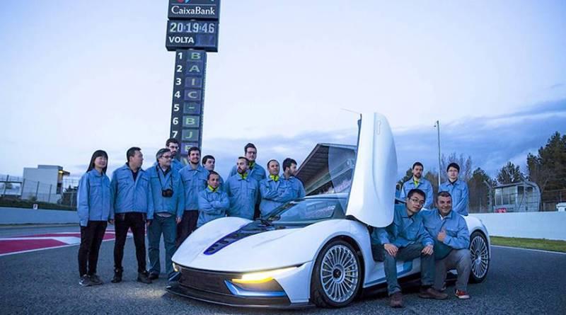 El super eléctrico de BAIC obra de Campos Racing. Coche eléctrico circuito de Barcelona. BAIC BJEV R&D Barcelona Center