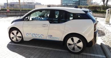 Endesa promueve el carsharing corporativo. BMW i8 carsharing. Flota de coches eléctricos BMW i8. Carsharing con vehículos eléctricos Endesa