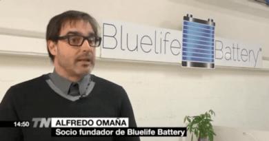 Bluelife Battery y su recuperación de baterías recibirán un premio. Bluelife Alfredo Omaña