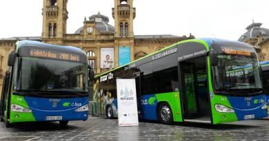 San Sebastián estrena dos autobuses eléctricos Irizar i2e