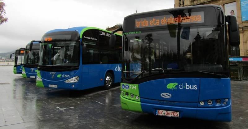 Irizar i2e 100% electrico San Sebastián. Autobus eléctrico español. eBus eléctrico