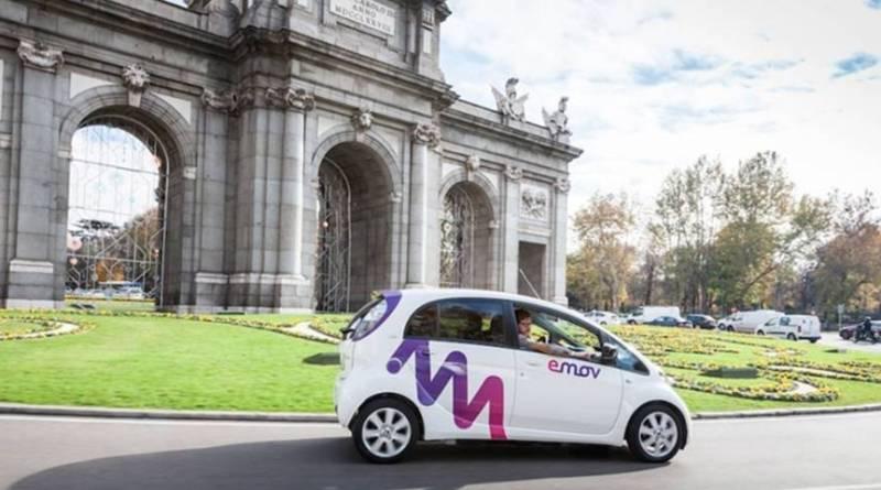 El nuevo carsharing de Madrid se llama Emov. Flota de coches eléctricos en Madrid. Citroën carsharing Madrid. empresas de carsharing con coches eléctricos