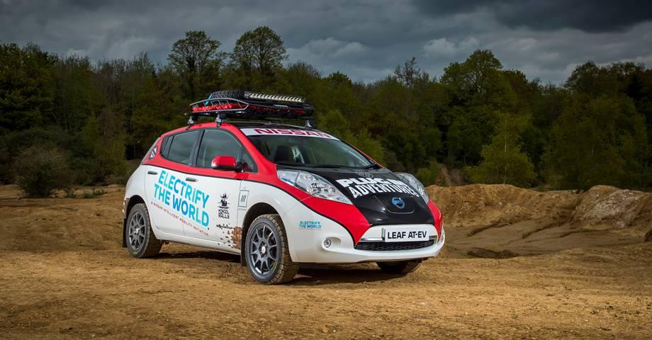 Nissan LEAF AT-EV en el Rally de Mongolia