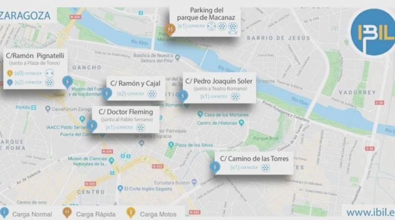 IBIL instalará 16 puntos de recarga en Zaragoza durante los próximos meses