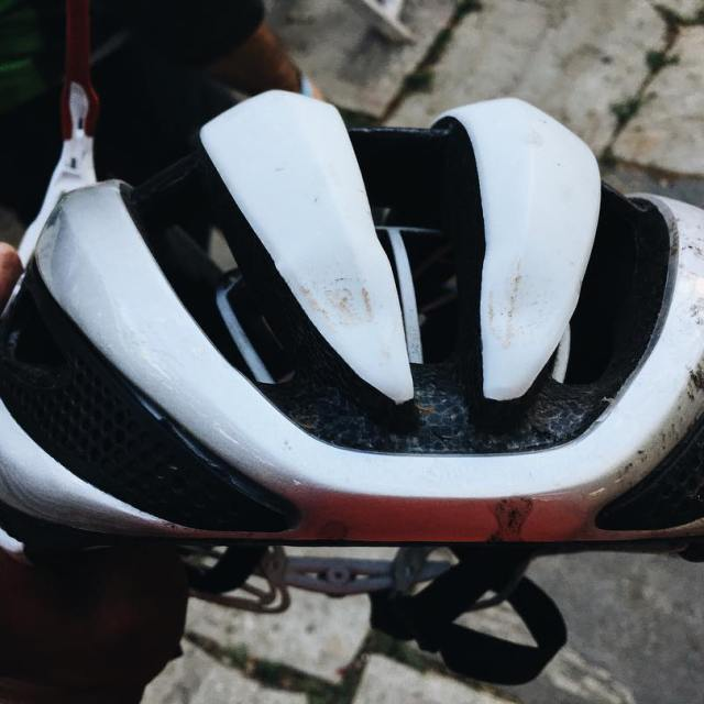 Had a spill at the presscamp editors ride yesterday buthellip