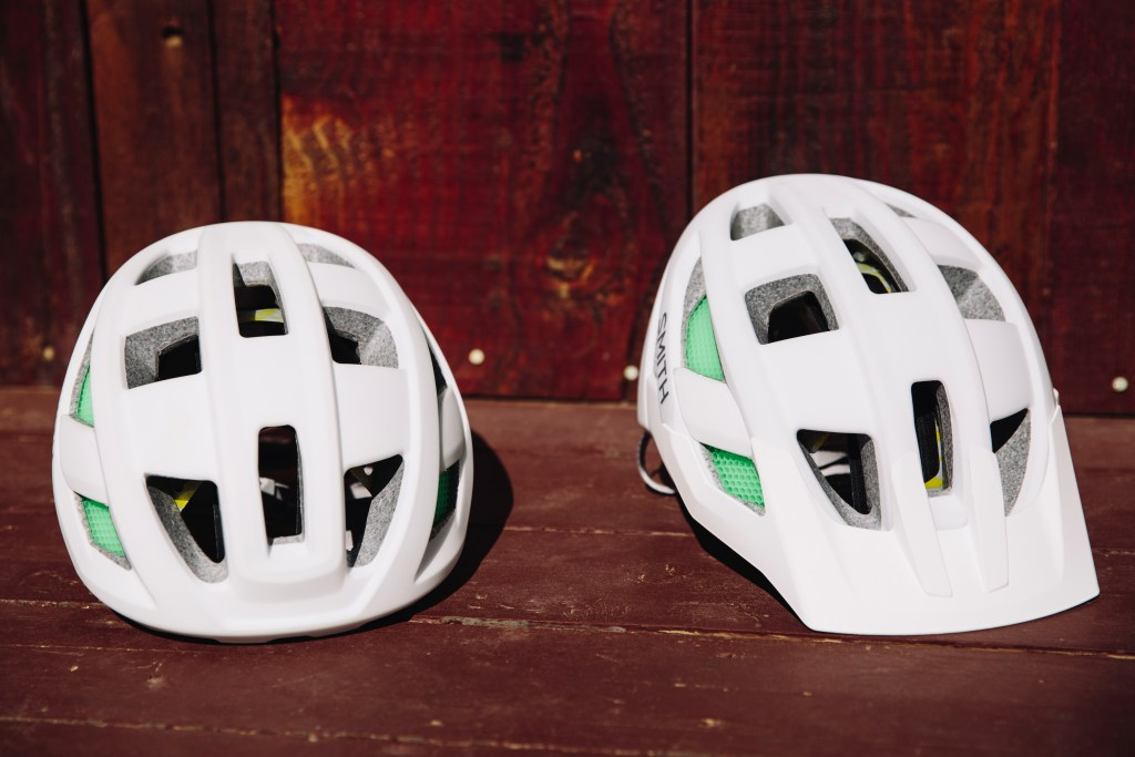 (L-R) Smith Route and Rover helmets. Photo: Stephen Lam/element.ly
