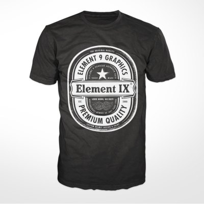 e9g beer label t-shirt