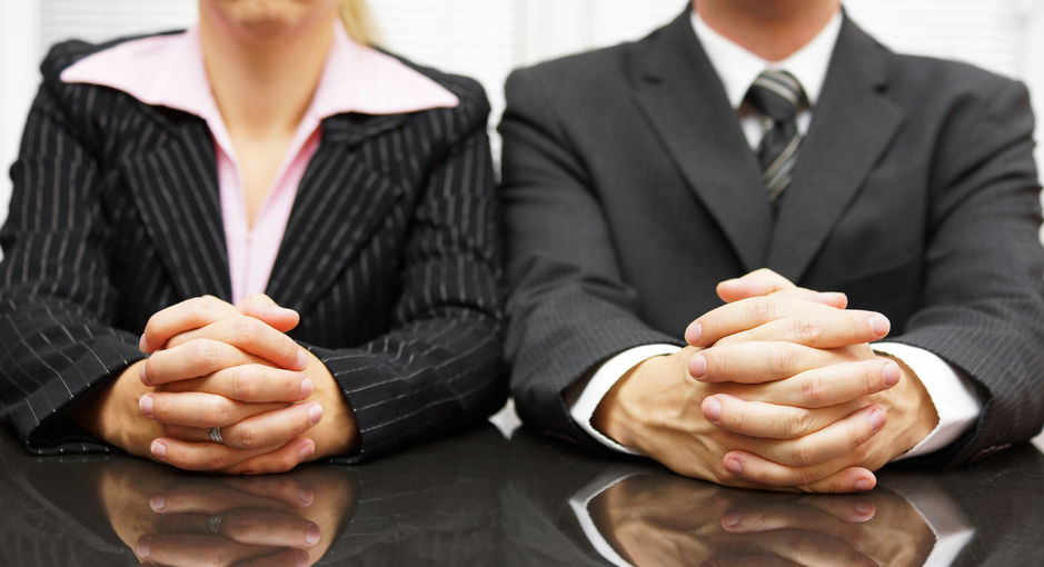 31907490 - managers are interviewing candidate for job
