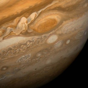"""The Great Red Spot as seen from Voyager 1 - 1979"" by NASA"