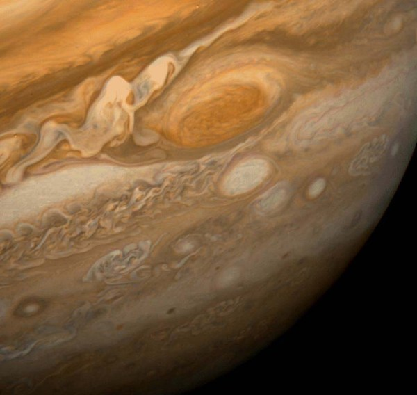"""""""The Great Red Spot as seen from Voyager 1 - 1979"""" by NASA"""