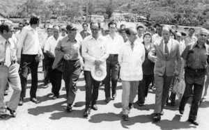 Gira a Santa María de Dota, inauguración del Monumento a los Caídos, 1973