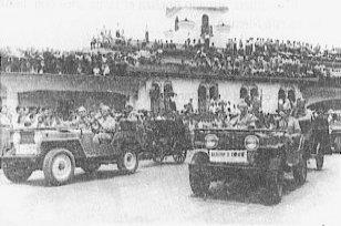 Desfile de la Victoria en la Sabana, 1948.