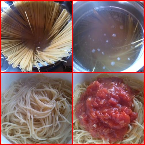 Mediterrán ételek - spagetti paradicsomszósszal, töltött avokádó előételnek