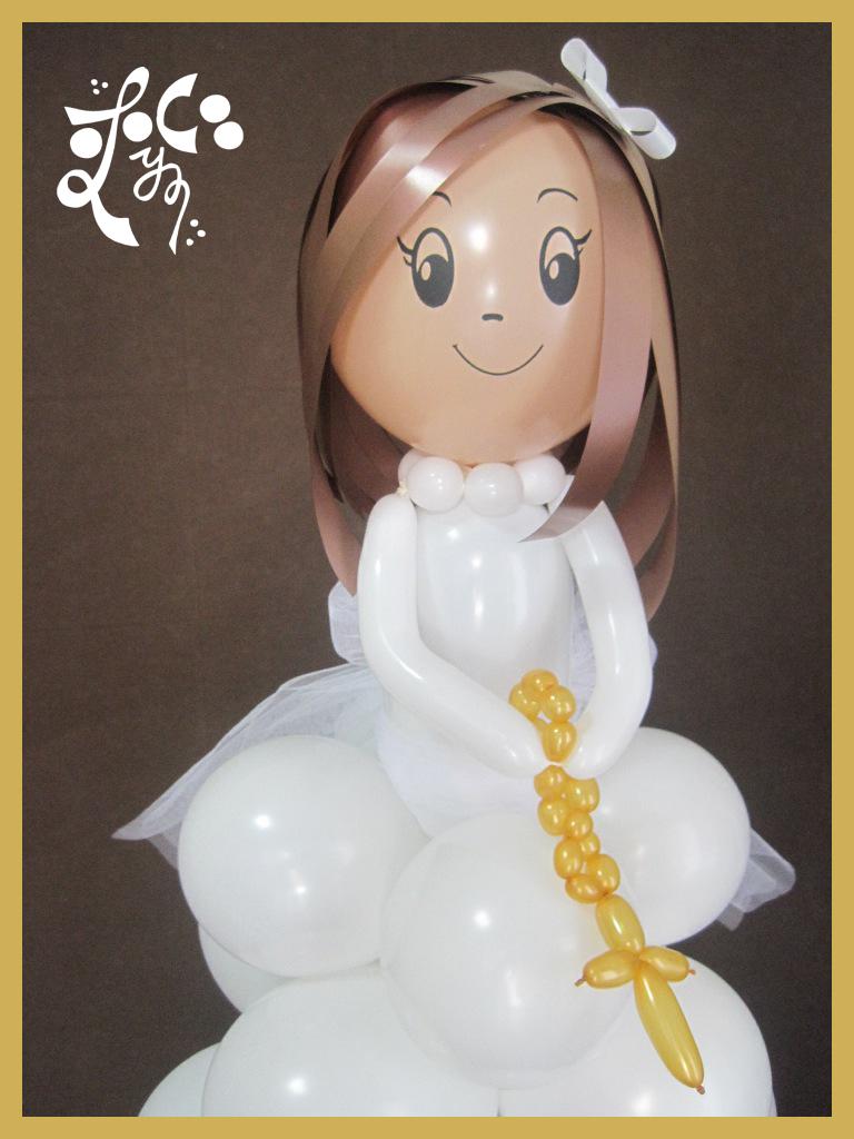 Nena globos comunio n valencia eleyce for Decoracion globos comunion