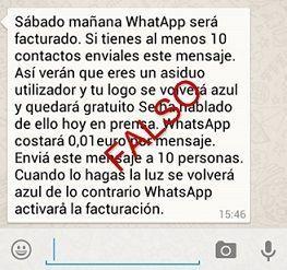 bulos y estafas de whatsapp