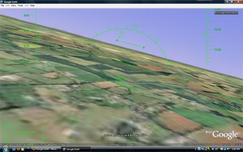 Google Earth Flight Simulator Preview