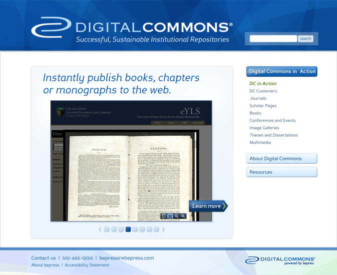 Digital Commons Site – DC In Action Slideshow