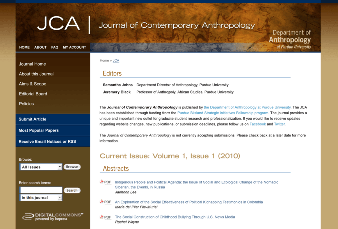 Journal of Contemporary Anthropology