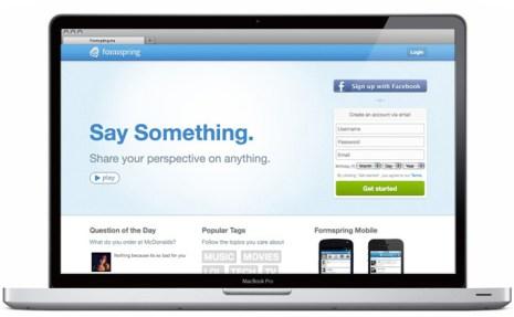 Formspring.me Homepage Slideshow laptop
