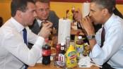 Medvedev y Obama: hamburguesas para todos