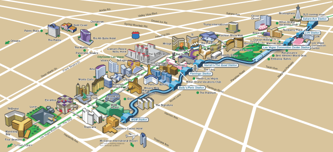 Monorail Route Map