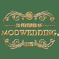 mod wedding badge - featured marsala shoot