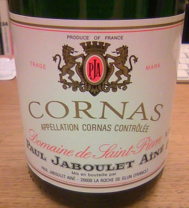 Jaboulet Domaine Saint Pierre Cornas 1996