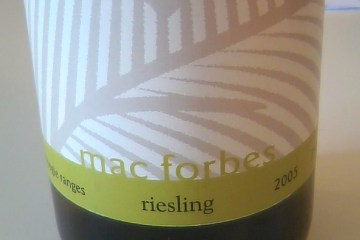 Riesling 2005, Mac Forbes