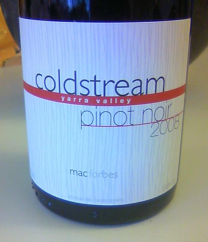Pinot Noir Coldstream 2008, Mac Forbes