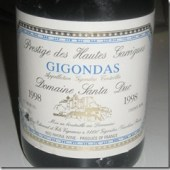 "Gigondas ""Prestige des Hautes Garrigues"" 1998, Domaine Santa Duc"