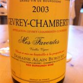 Gevrey-Chambertin Mes Favorites 2003, Domaine Alain Burguet