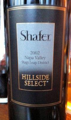 'Hillside Select' Cabernet Sauvignon 2002, Shafer