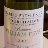 Chablis Premier Cru Fourchaume &#039;Vignoble de Vaulorent&#039; 2007, Domaine William Fevre