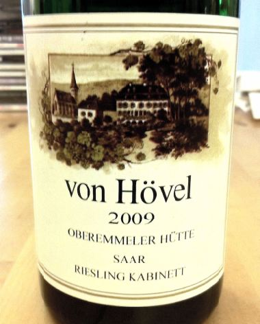 Riesling Kabinett Oberemmeler Hutte 2009,  von Hovel