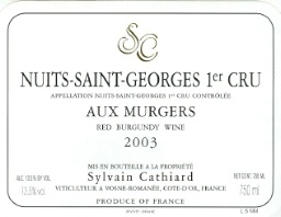 Nuits-Saint-Georges Premier Cru aux Murgers from Sylvain Cathiard