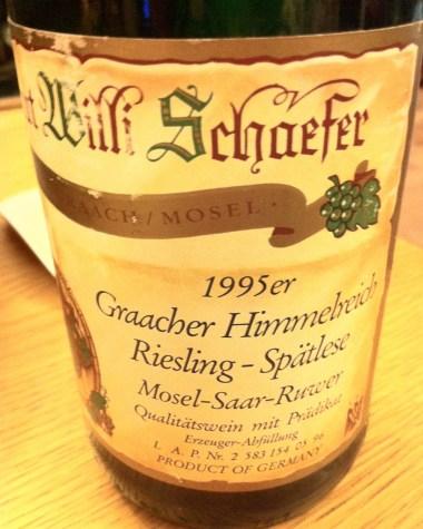 Riesling Spatlese Graacher Himmelreich 1995, Willi Schaefer
