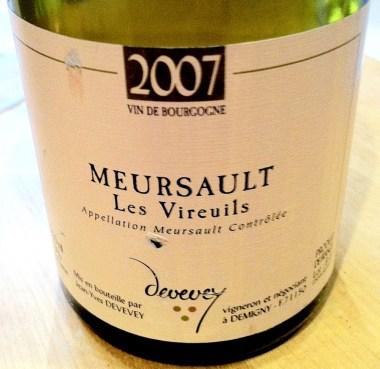 Meursault 'Les Vireuils' 2007, Devevey
