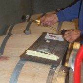 Adding sulfur to wine barrels